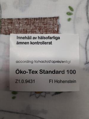 Tygbit Emil i Lönneberga 4 bitar  30*70 cm egen design av tyget