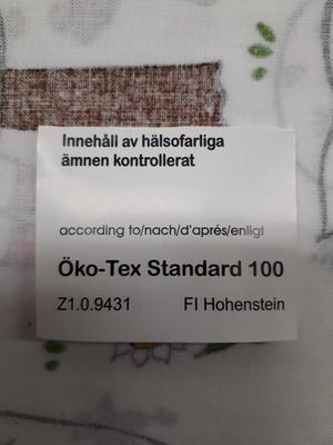 Tygbit Emil i Lönneberga 98*180 cm egen design av tyget